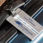 Kofferetiketten aus Aluminium